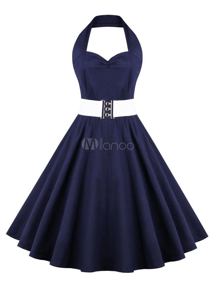 Robe bleu vintage
