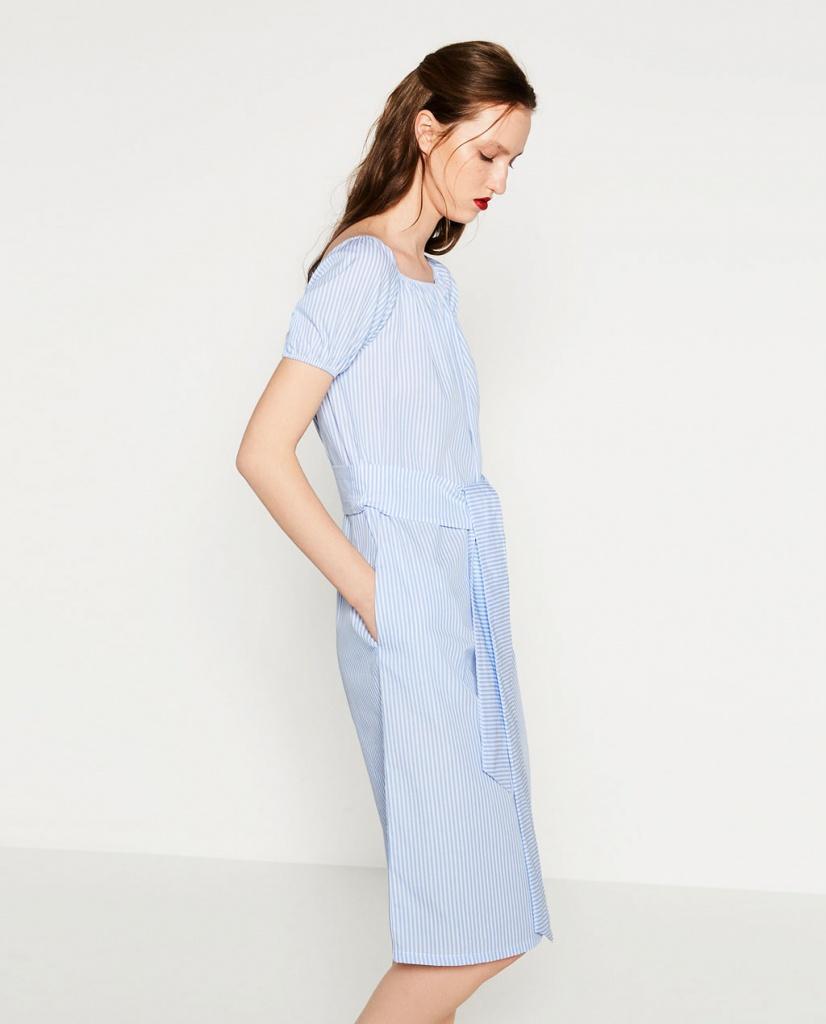 Robe bleu zara