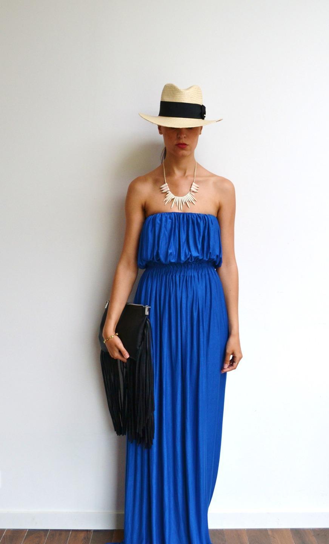 Robe boheme bleu