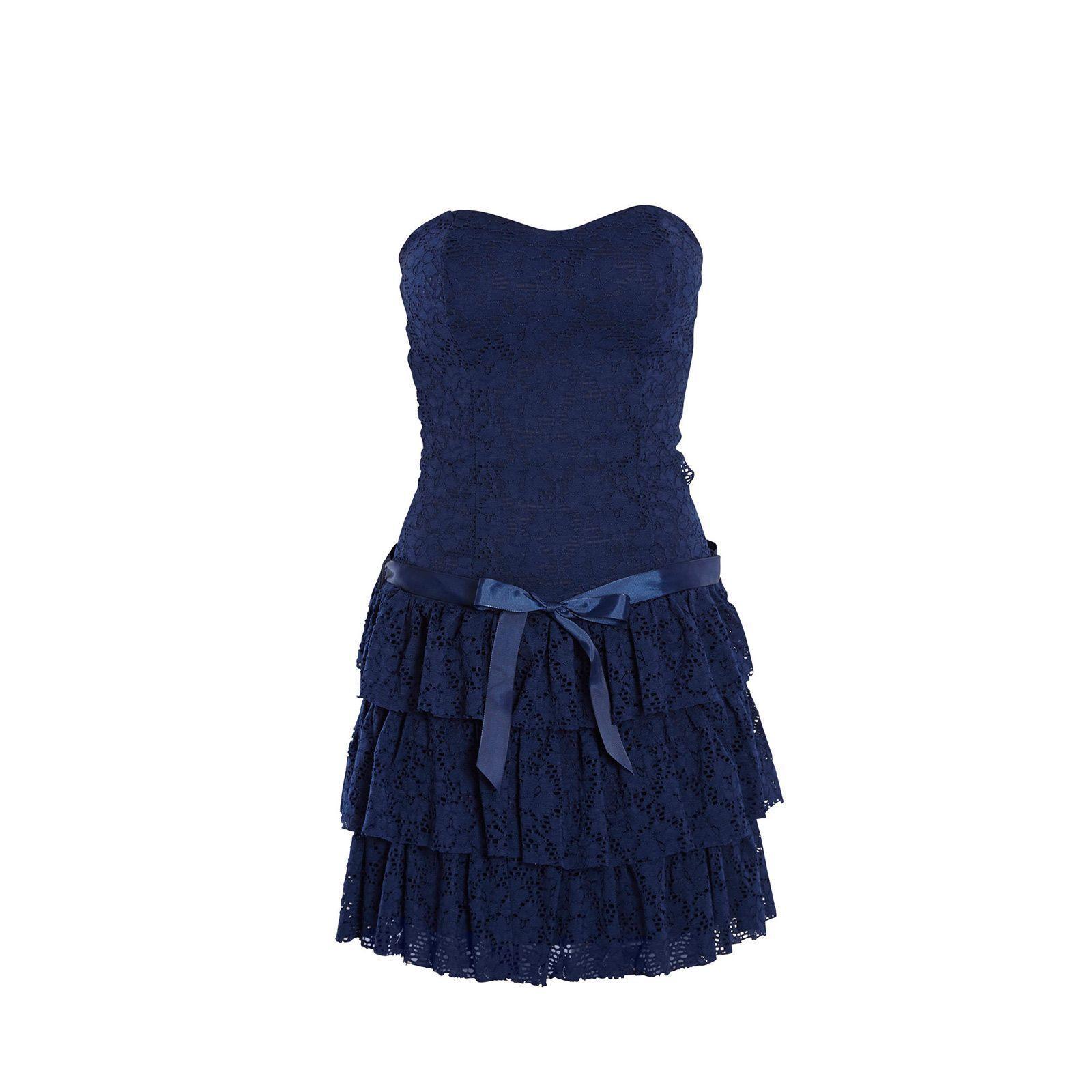 Robe bustier bleu
