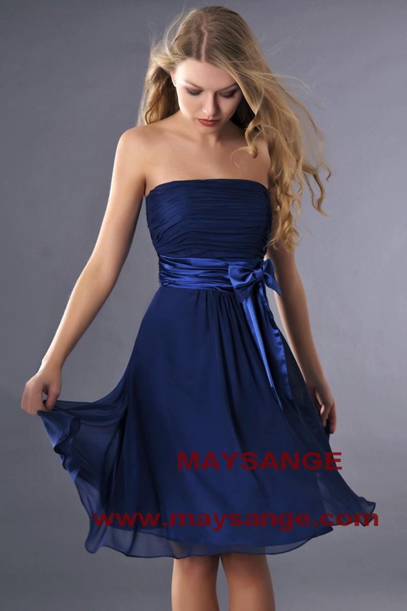 Robe ceremonie femme bleu