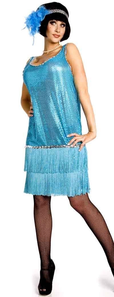 Robe charleston bleu