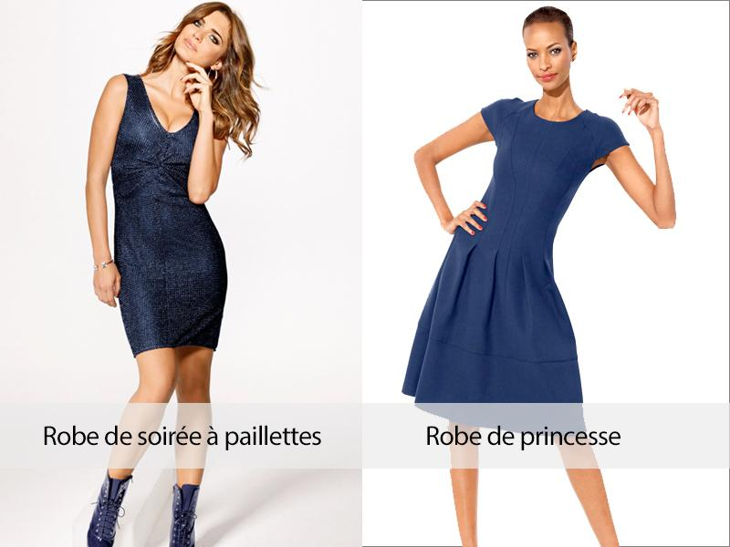 Robe chic bleu