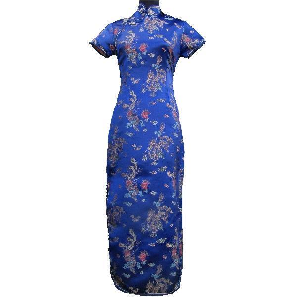 Robe chinoise bleu