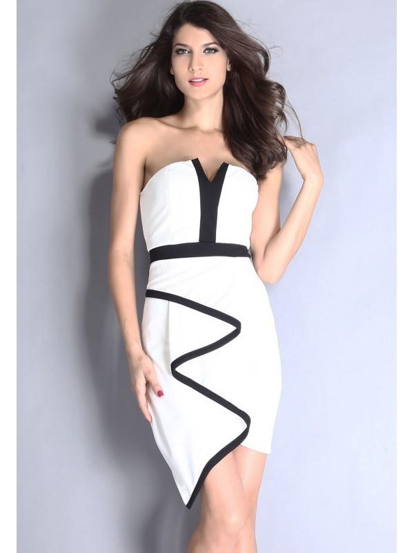 Robe classique noir et blanc