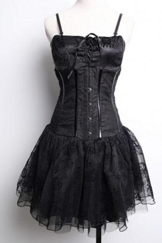 Robe corset noir