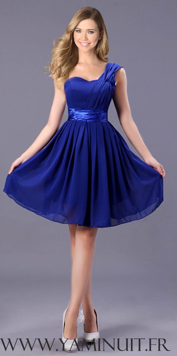 Robe courte de soirée bleu