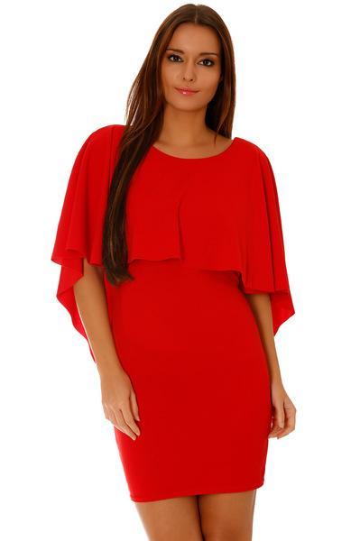 Robe courte de soirée moulante rouge
