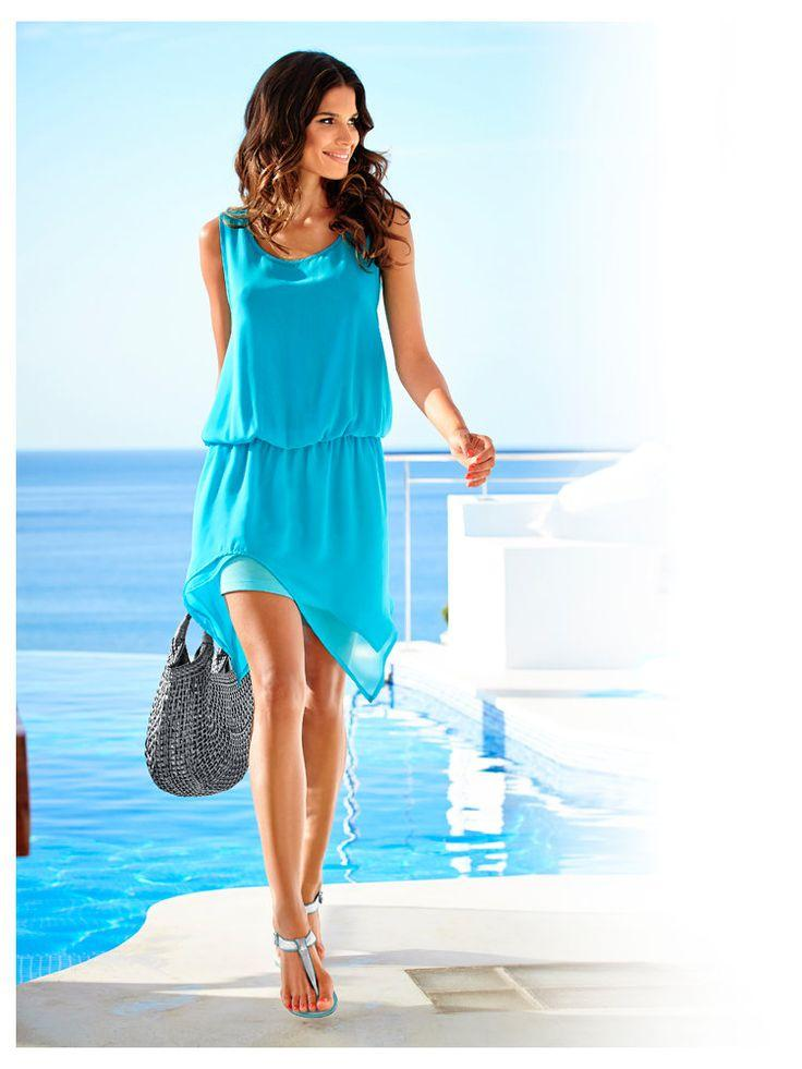 Robe d'été bleu turquoise