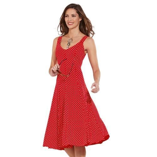 Robe d'été rouge