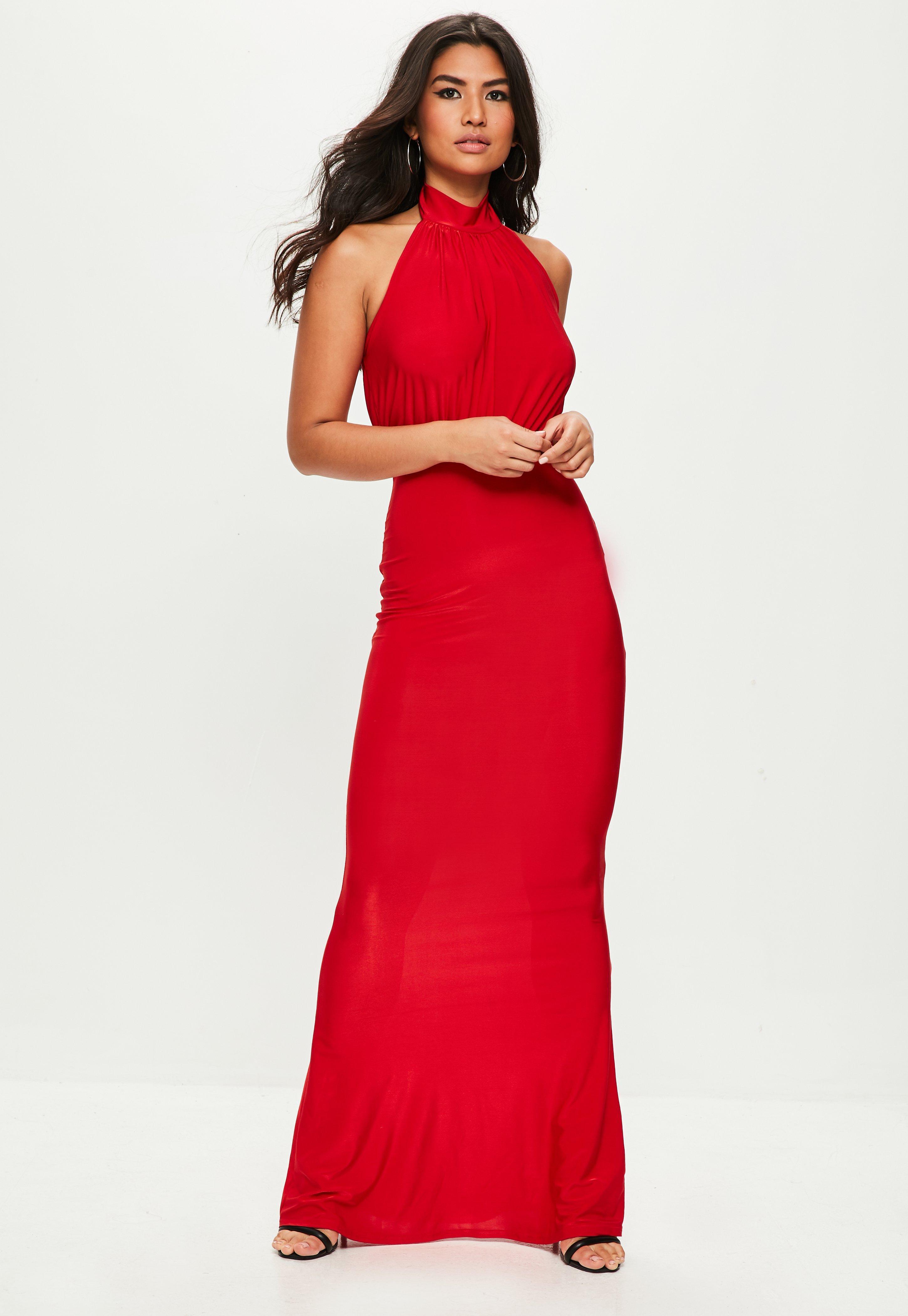 Robe de bal de promo rouge