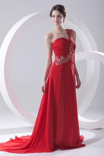 Robe de bal longue rouge
