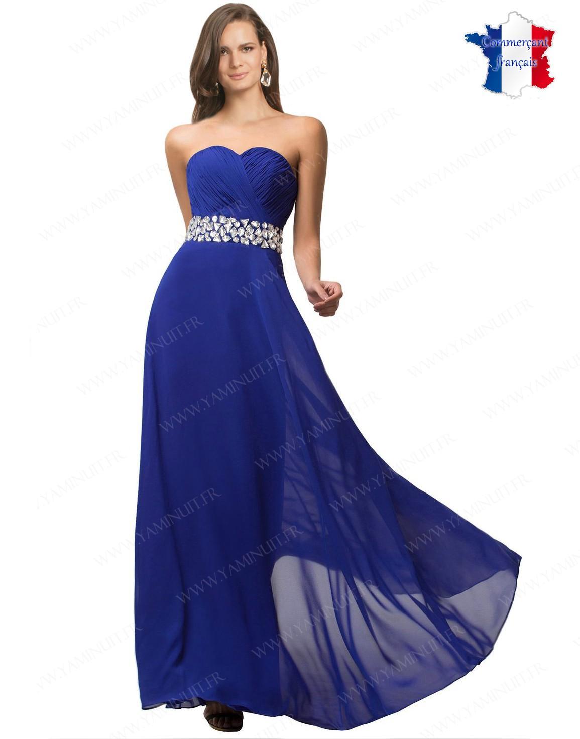 Robe de ceremonie bleu roi