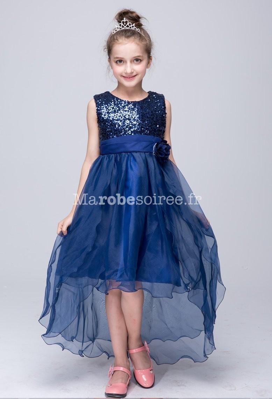 Robe de ceremonie fille bleu