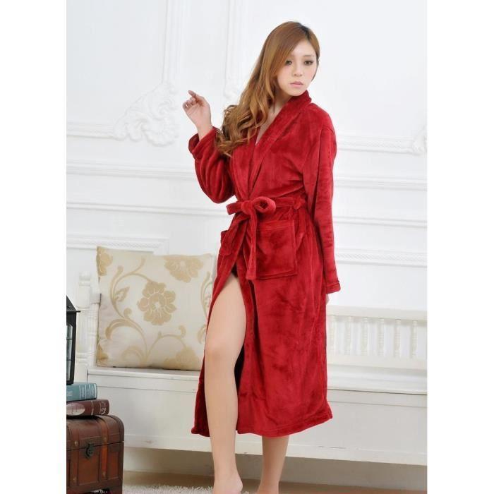 Robe de chambre rouge femme
