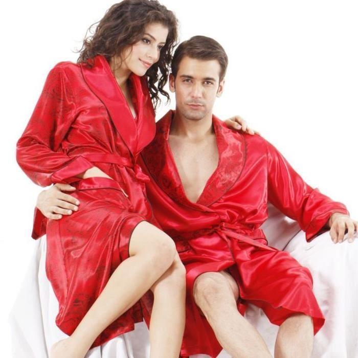 Robe de chambre rouge