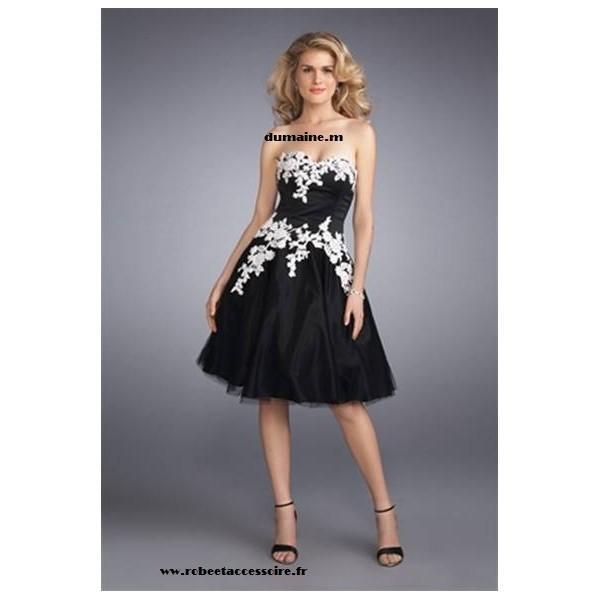 Robe de cocktail noir et blanche