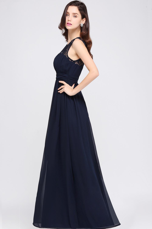 Robe de demoiselle d'honneur bleu marine