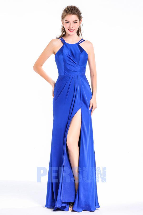 Robe de demoiselle d'honneur bleu roi