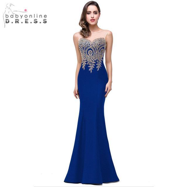 Robe de demoiselle d honneur bleu
