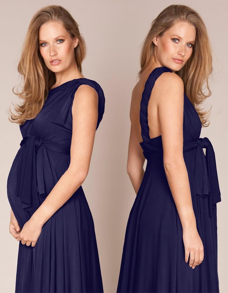 Robe de grossesse bleu marine