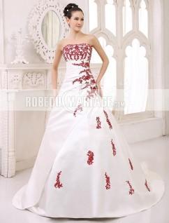 Robe de mariée blanc et rouge