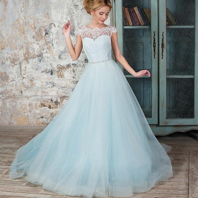 Robe de mariée bleu clair