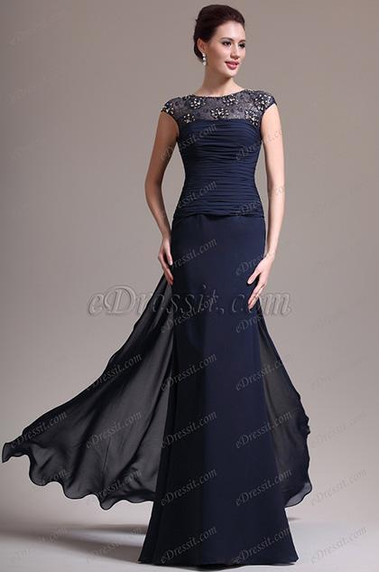 Robe de mariée bleu marine