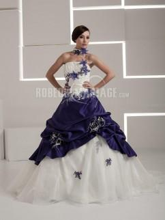 Robe de mariée couleur bleu
