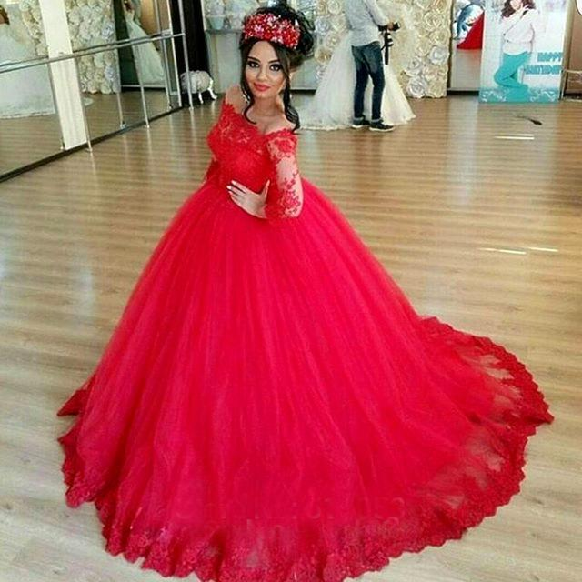 Robe de mariée dentelle rouge