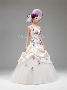 Robe de mariée noir et blanc pas cher
