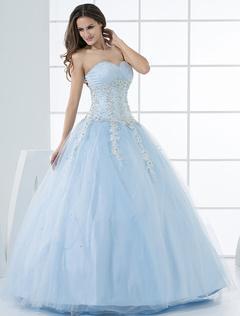 Robe de mariage bleu