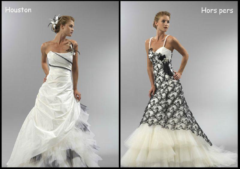 Robe de mariage noir et blanche