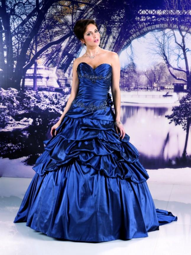 Robe de marie bleu