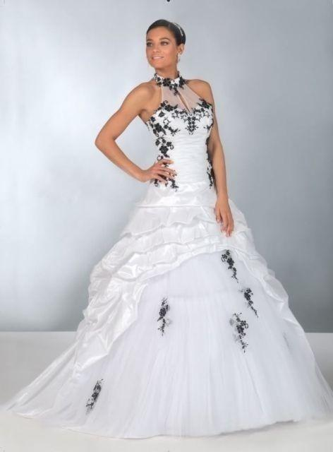 Robe de mariee blanc et noir