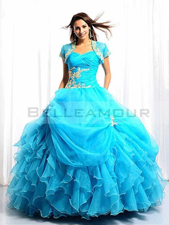Robe de marier bleu
