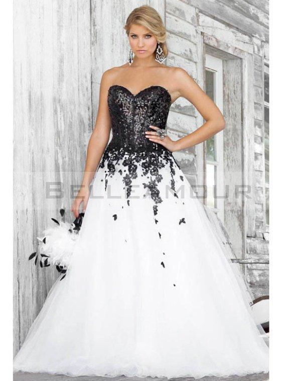 Robe de marier noir et blanc