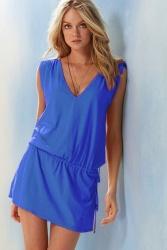 Robe de plage bleu