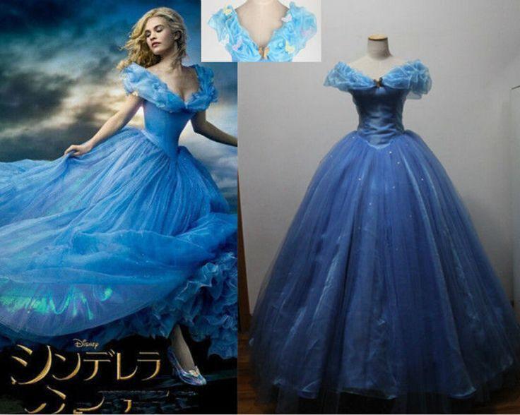 Robe de princesse femme bleu