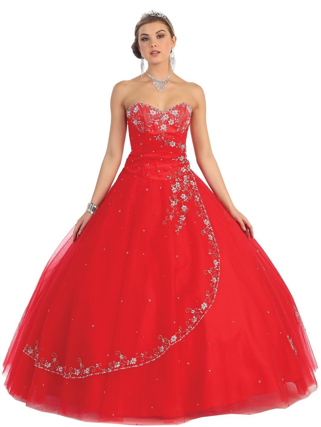 Robe de princesse rouge et blanc