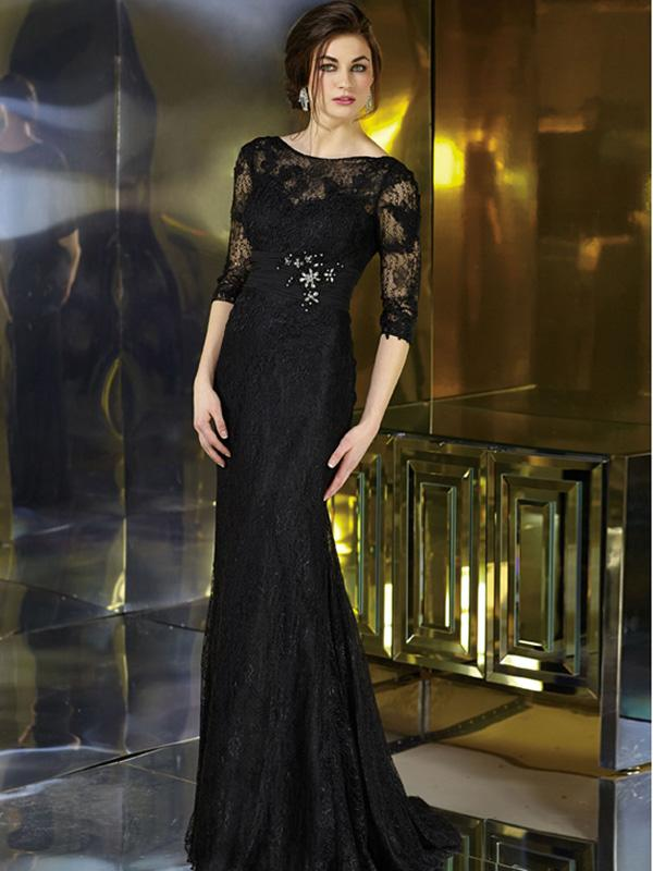 Robe de soirée 2015 dentelle noir