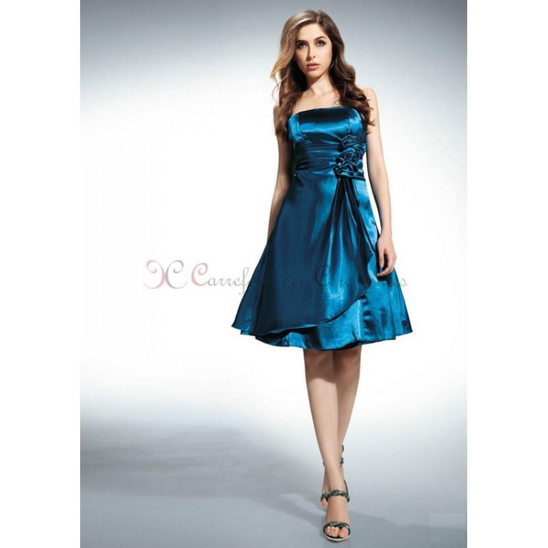 Robe de soirée bleu canard