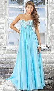 Robe de soirée bleu clair