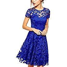 Robe de soirée bleu electrique