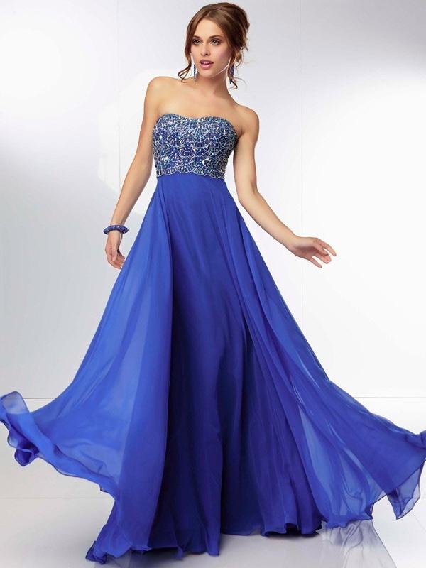 Robe de soirée bleu roi pas cher