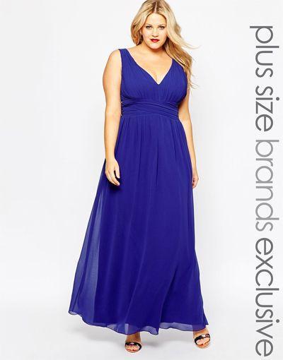Robe de soirée grande taille bleu