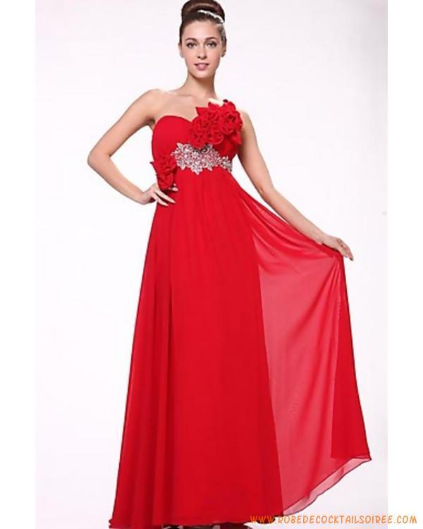 Robe de soirée longue rouge pas cher