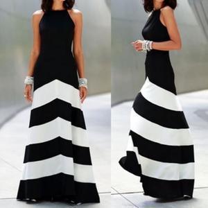 Robe de soirée noir et blanc