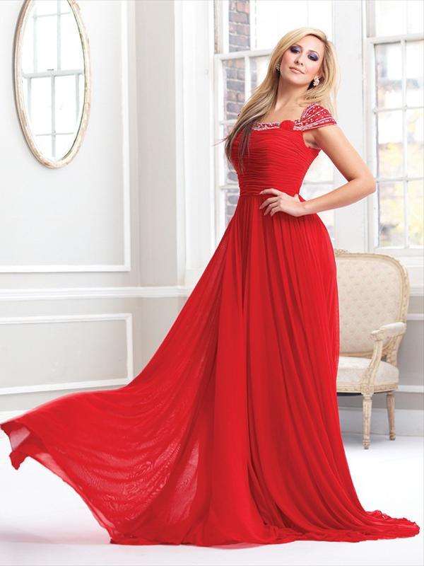 Robe de soirée rouge grande taille
