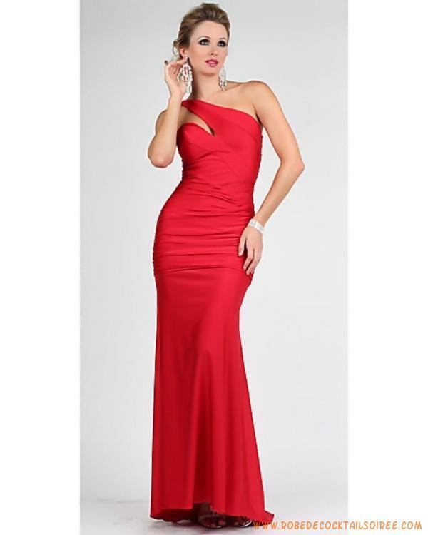 Robe de soirée rouge longue pas cher